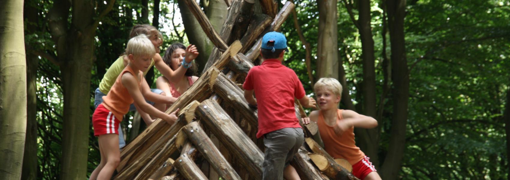 Kinderen in speelzone Kluisbos
