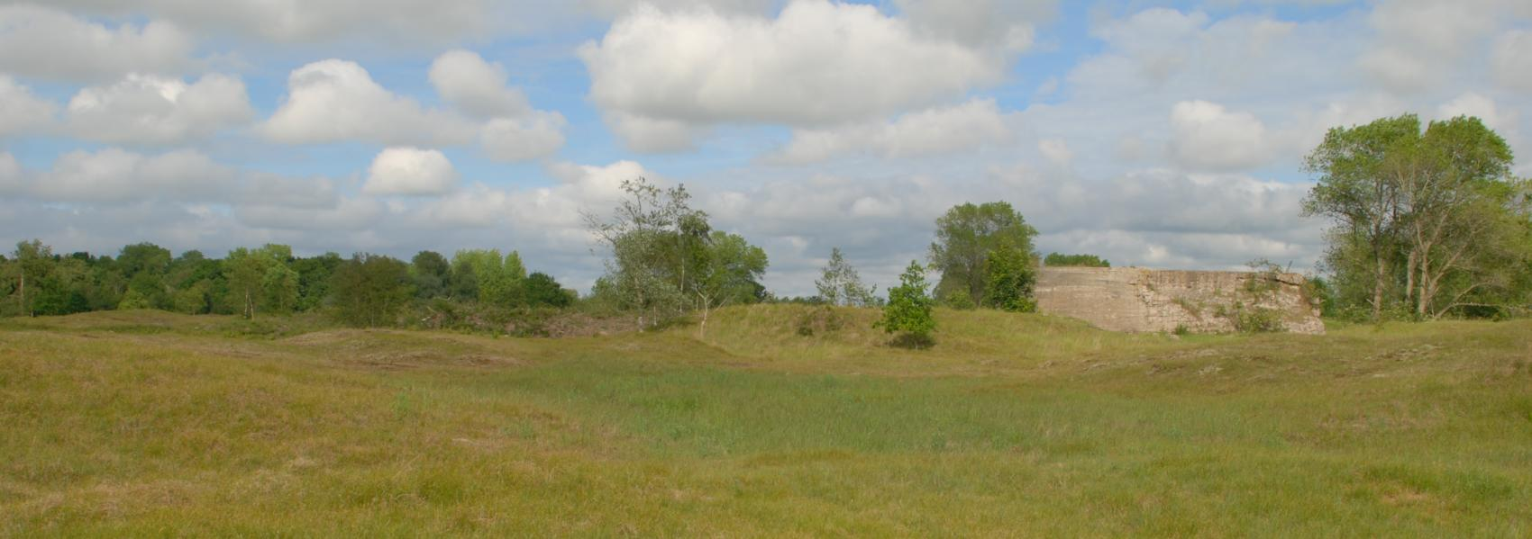 landschap met bunker
