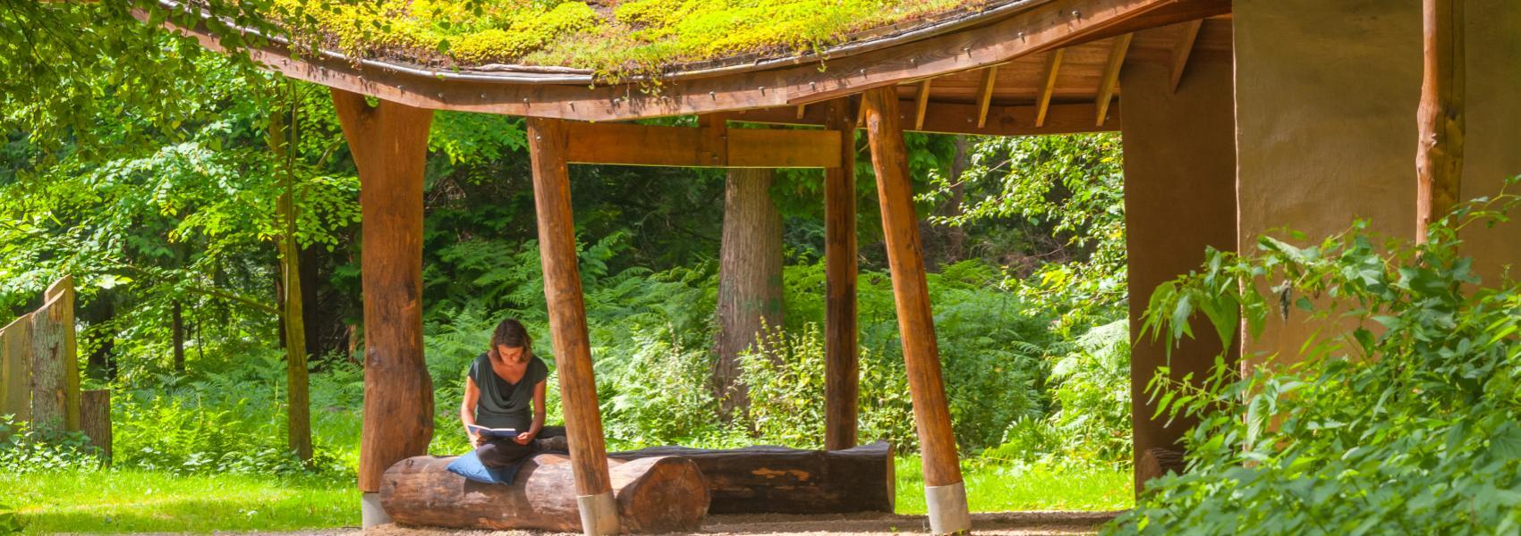Boshut ingang Arboretum Heverleebos