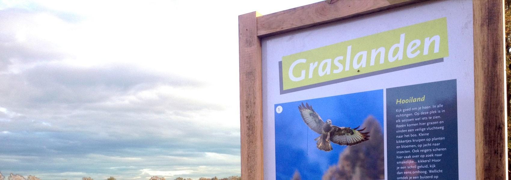 infobord over de graslanden