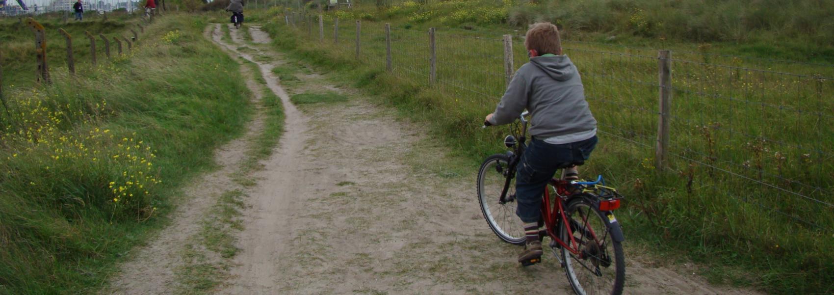 een fietser