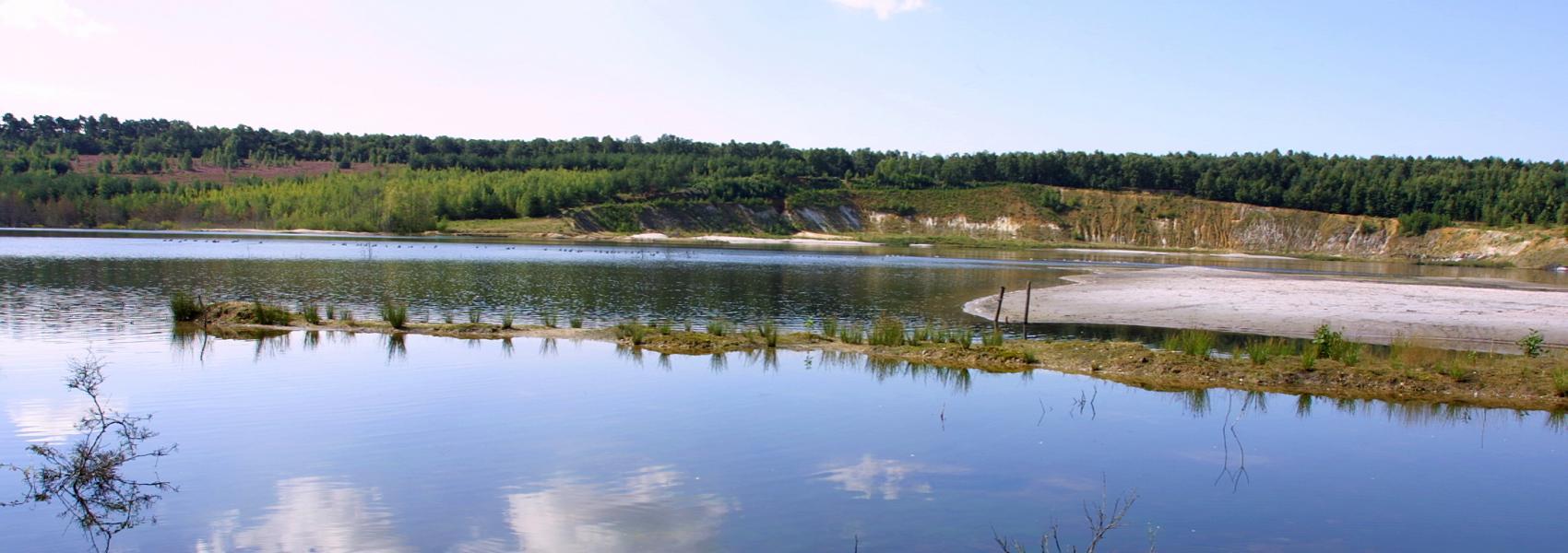 zicht op het waterlandschap