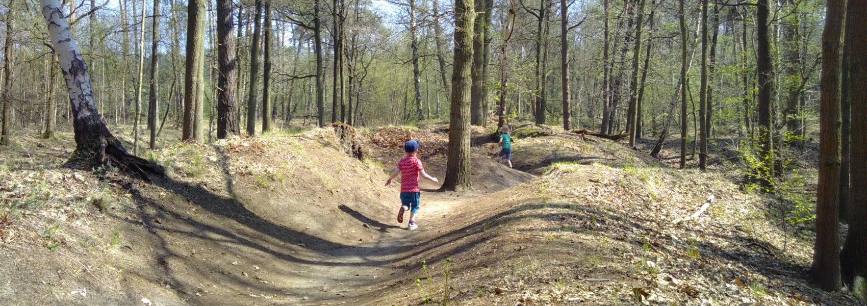 loopgravenpad in Mastenbos