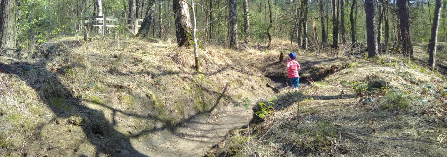 loopgravenpad in Mastenbos
