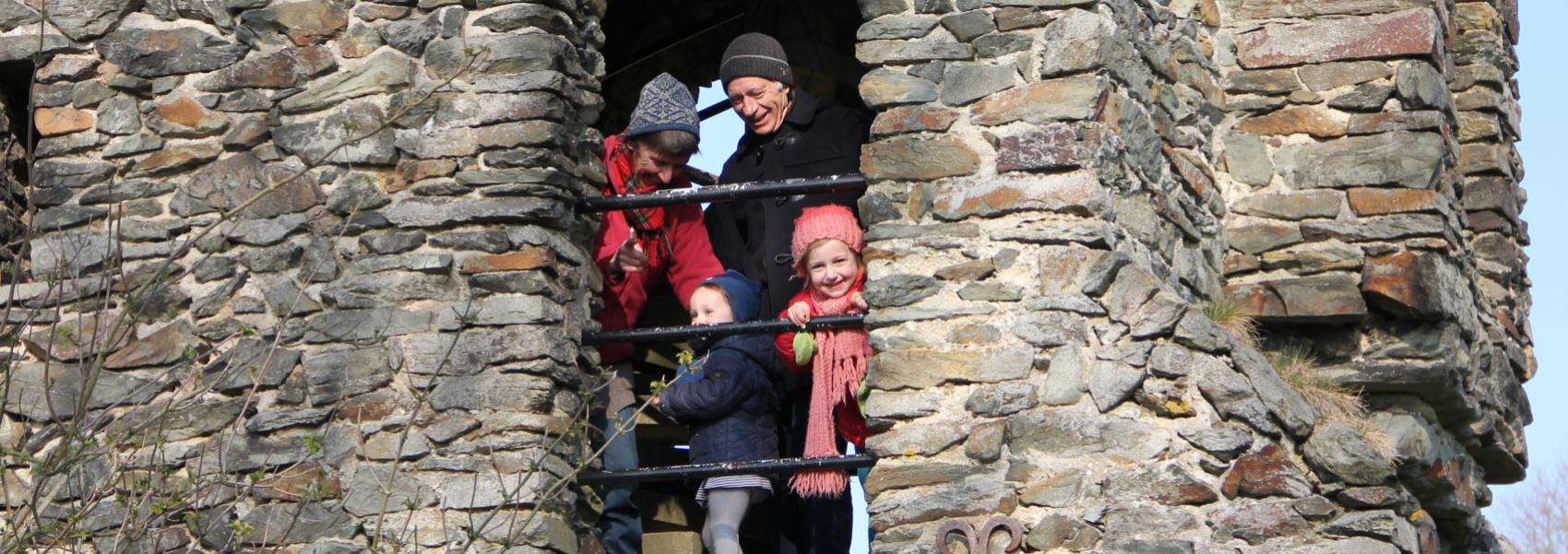 gezin in de Malakofftoren