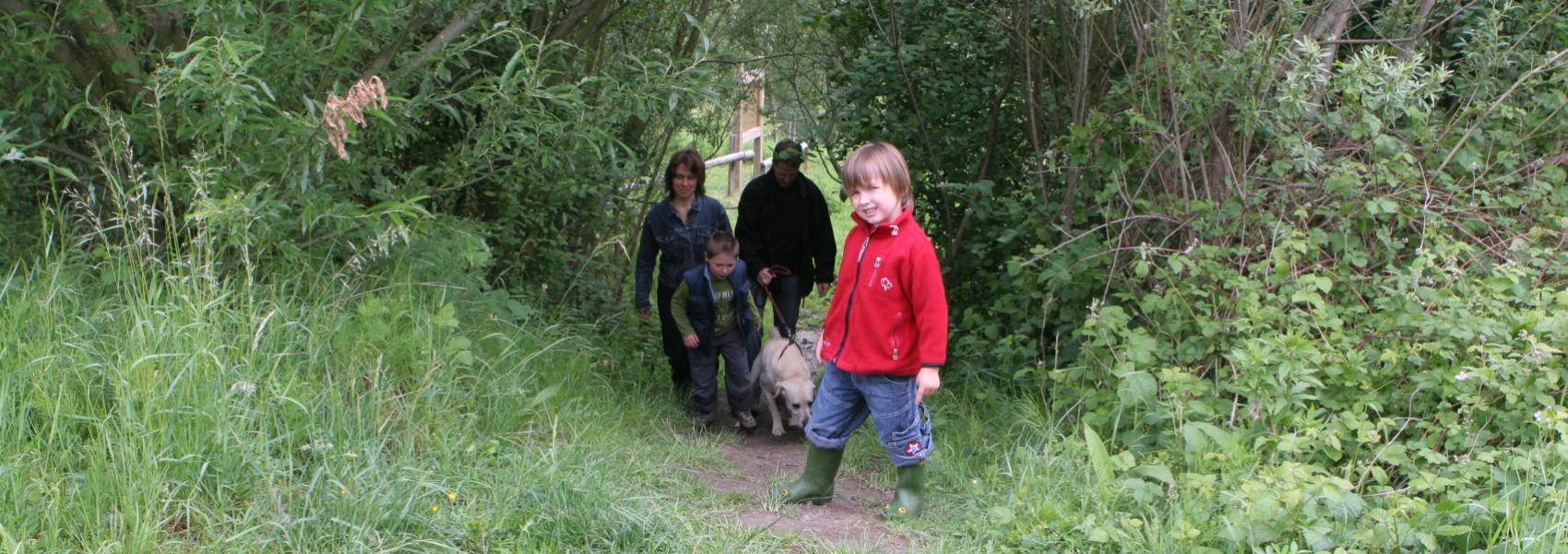 wandelaars met honden