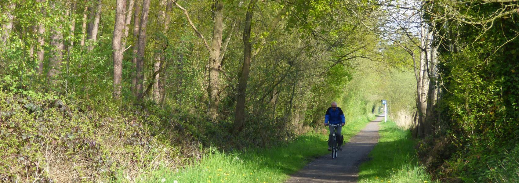 fietser in de dreef