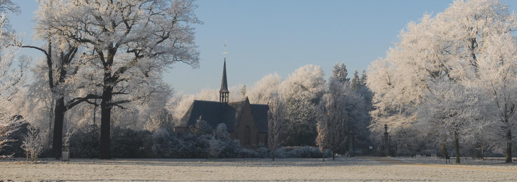 Winters landschap in Vordenstein