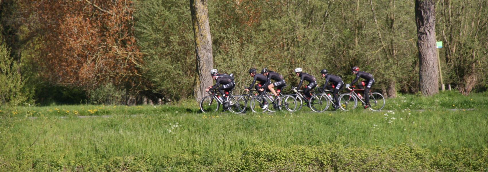 groep fietsers