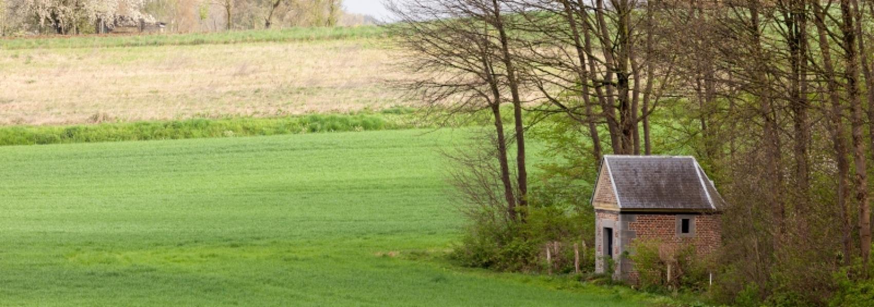 huisje in het landschap