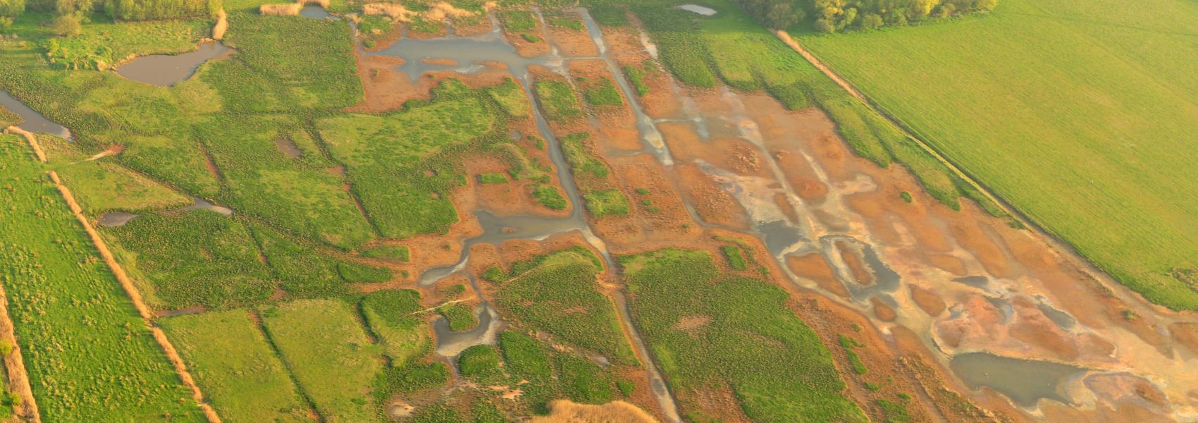 luchtfoto van putten weiden