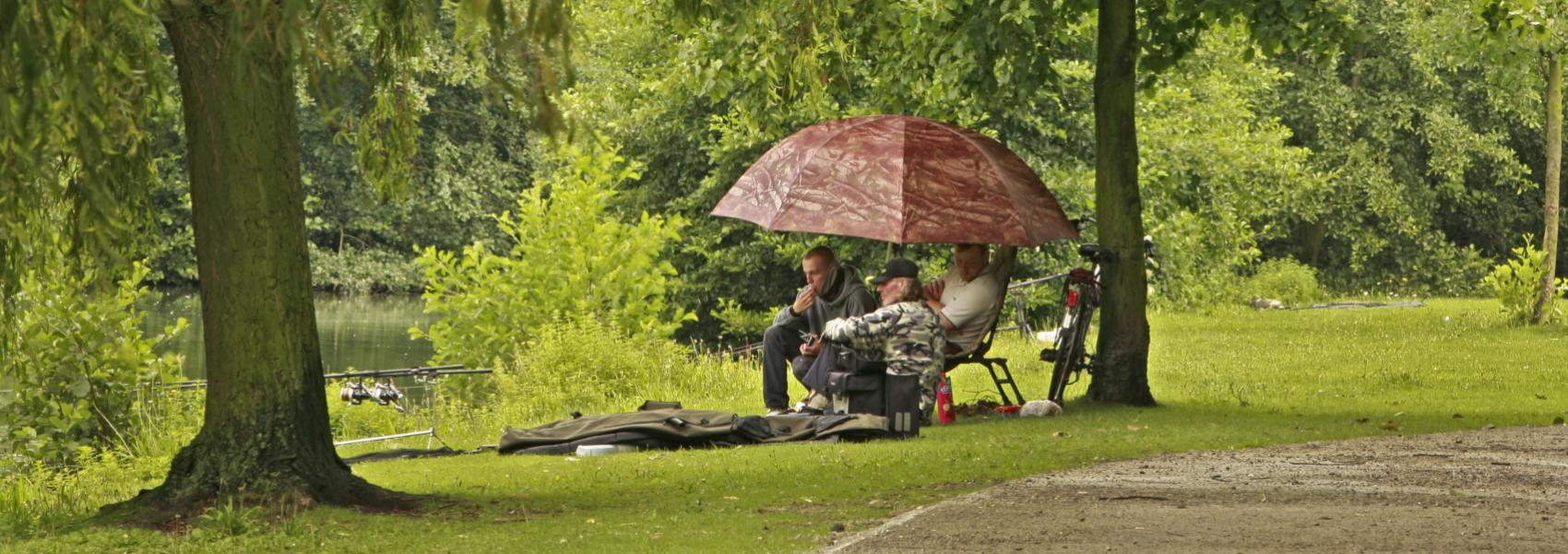 Vissers in Park Zelzate