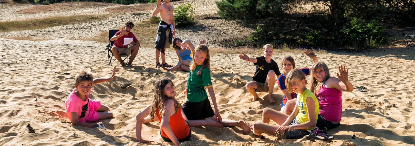 zomerkamp in de duinen